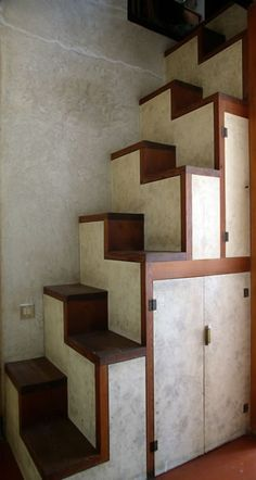 Stairs with Storage   -  To connect with us, and our community of people from Australia and around the world, learning how to live large in small places, visit us at www.Facebook.com/TinyHousesAustralia