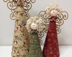 Trio de Anjos   Carmelitas de Pano   Elo7