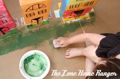 Cardboard Box Town Craft and Art for Kids on hands on : as we grow