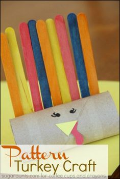 This time of year, we love to create fun turkey crafts! Besides being cute, they Turkey Crafts Preschool, Thanksgiving Activities For Kids, Holiday Activities, Preschool Activities, Kids Crafts, Arts And Crafts, Paper Crafts, Fall Preschool, Thanksgiving Ideas