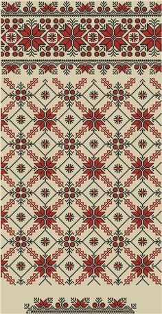 This Pin was discovered by Све Palestinian Embroidery, Hungarian Embroidery, Folk Embroidery, Cross Stitch Embroidery, Embroidery Patterns, Cross Stitch Charts, Cross Stitch Designs, Cross Stitch Patterns, Tapestry Crochet