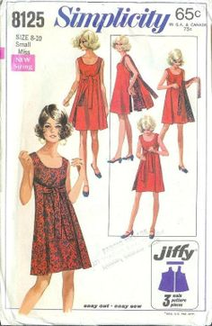 Original Simplicity Sewing Pattern 8125 Misses Jiffy Wrap Dress  Remake Simplicity Sewing Pattern is 1356