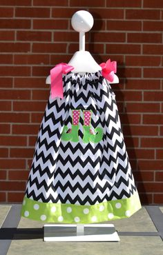 Chevron Halloween Witch Boot Dress Girls by byrdlegs on Etsy.