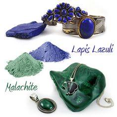 FUN FACT: The Ancient Greeks, Romans & Egyptian Pharaohs ground up malachite and lapis lazuli for eye shadow!