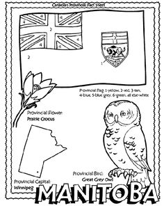 Canadian Province - Manitoba coloring page, all of canada!