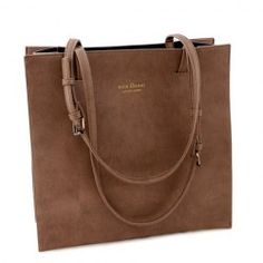 Wholesale Simple Women's Tote Bag With Solid Color and Crown Design (BROWN), Tote Bags - Rosewholesale.com