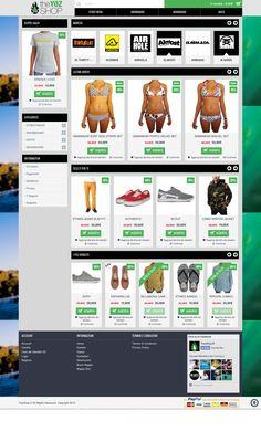 Sito web ecommerce realizzato per YozShop - Messina - HomePage - Realizzato con OpenCart- Anno 2014