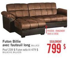 futon billie avec fauteuil long de brick 79900    20  de rabais futon fauteuil long belize de brick 87900     d  co maison      rh   pinterest