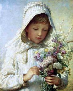 Karl Wilhelm Bauerle (1831 – 1912, German) a-posey-of-pretty-flowers-the-month-of-September....