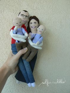 personalised handmade fabric dolls, portrait dolls, embroidery