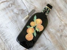 Your place to buy and sell all things handmade Melted Wine Bottles, Spoon Rest, Wire Wrapping, Wraps, Cheese, Orange, Handmade Gifts, Etsy, Kid Craft Gifts