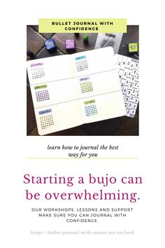 Starting a bullet journal can be overwhelming because you don't know where to start. Our bujo workshops and support make sure you know how to journal with confidence. Organize your life using your journal in a way that works best for you. Bullet Journal Health, How To Bullet Journal, Bullet Journal Tracker, Bullet Journal Spread, Bullet Journal Layout, Bullet Journal Inspiration, Journal Ideas, Time Management Techniques, December Bullet Journal