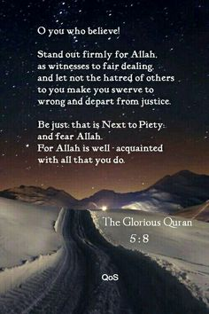 Quran 5:8 - This is Islam !