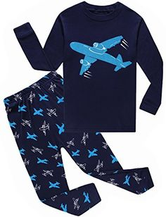 IF Pajamas Airplane Baby Boys Long Sleeve Pajamas 100 Cotton Clothes Infant Kids Size 1824 Months