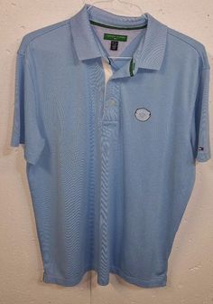 Tommy Hilfiger Golf Medinah Country Club Mens Stretch Short Sleeve Polo Shirt L #TommyHilfiger #PoloRugby