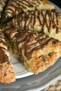 The perfect scone with the most beautiful crunchy sugar crusted top. Tender and full of chocolate chips, these Chocolate Chip Scones will seriously be the best scone you've ever had!