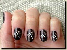Dragonfly nail design
