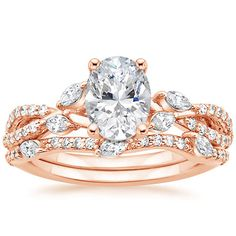 14K Rose Gold Luxe Willow Matched Set (1/2 ct. tw.) from Brilliant Earth........................If I ever get married this is the exact ring that I want. I don't care about any ring I ever posted before this one here is the one!!