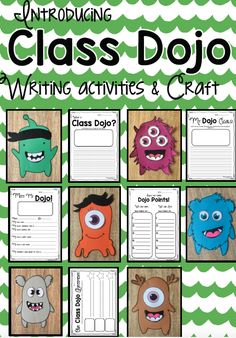 Class Dojo Writing and Craft Activities! A Fun and exciting way to introduce Class Dojo to your students! Classroom Behavior Management, Student Behavior, Behaviour Management, Class Management, Behavior Incentives, Classroom Rewards, 4th Grade Classroom, Classroom Community, School Classroom
