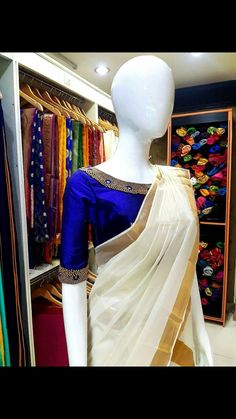 I like Accessorizing Your Leather-based: Nice concepts to brighten your look! Kerala Saree Blouse Designs, Saree Blouse Neck Designs, Neckline Designs, Blouse Patterns, Kids Blouse Designs, Bridal Blouse Designs, Stylish Blouse Design, Onam Saree, Wedding Sarees