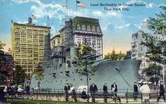 USS Recruit in Union Square, c 1915.