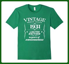 Mens Vintage 1931 86th Birthday 86 Years Old Gift T-Shirt XL Kelly Green - Birthday shirts (*Amazon Partner-Link)