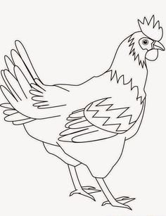 rooster stencils printable rooster print color fun Coloring Pages Free Printable Rooster Chicken Clip Art, Chicken Drawing, Chicken Signs, Chicken Painting, Rooster Stencil, Rooster Art, Cool Coloring Pages, Coloring Books, Chicken Coloring Pages