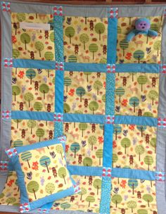 Cot Quilt e-pattern as seen in Kindred Stitches Magazine now available via Stitching Cow website