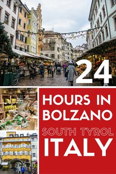 Could there be a better way to pass 24 hours in Bolzano, Italy, than exploring vibrant markets and colourful streets, and eating delicious South Tyrolean food? Things To Do In Italy, Places In Italy, Places To Visit, Italy Winter, Italy Summer, Cinque Terre, Verona, Road Trip Moto, Rome