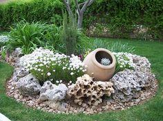 Los mejores diseños de Jardines con piedras y les muestro la forma de como hacer su propio Jardin con piedras muy fácil y económico y mucha mas informacion