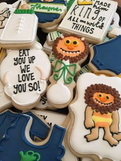 Decorated sugar cookies at a Where the Wild Things Are baby shower party! See more party ideas at CatchMyParty.com!