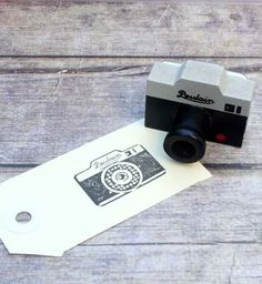 Vintage Stempel einer Kamera von Die Rak Leckerbissen auf DaWanda.com