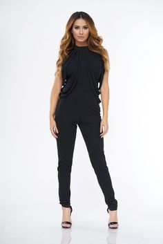 Daily Dose Black Jumpsuit