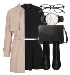 """Untitled #5061"" by laurenmboot ❤ liked on Polyvore featuring Topshop, Monki, Violeta by Mango, Yves Saint Laurent and Daniel Wellington"