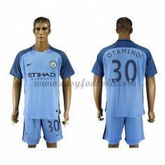 Fodboldtrøjer Premier League Manchester City 2016-17 Otamendi 30 Hjemmetrøje
