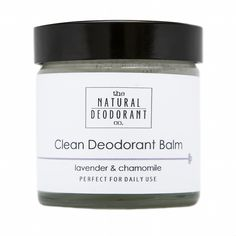 Clean Deodorant Balm with Lavender and Chamomile 60ml The Natural Deodorant Co.
