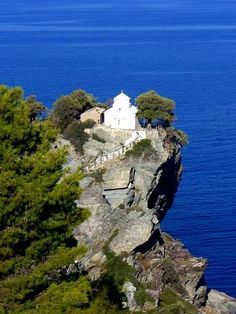 Agios Ioannis in Skopelos island, Greece. I've been there, it's so beautiful!