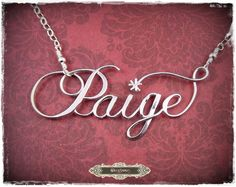 Large Size Personalized Sterling Silver Calligraphy by SilverTrove, $74.97