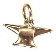 $29.50 Please note that product images are enlarged to show detail. The actual item is 0.31 - (approx. 1/4 in.) inches long and 0.539 - (approx. 1/2 in.) inches wide. The Anvil Charm, Gold Plated Silver is hand-polished with a High Polish finish. The charm shape is 3D. Every Rembrandt charm comes with a heavy-duty jump ring that can be twisted open and easily attached by you. All Rembrandt Charms are guaranteed for life.