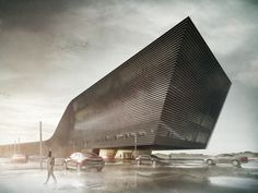 Office building - visualization by maciek józefiak, via Behance