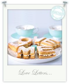 Gluten-free Victoria sandwich cake love letters