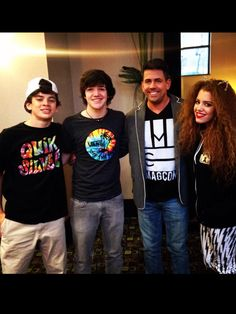 Hayes Grier, Aaron Carpenter creator of magcon and mahogany lox