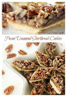 Pecan Diamond Shortbread Cookies | www.dadwhats4dinner.com