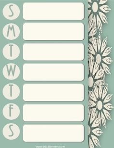 Free Printable Weekly Calendar Customize Online Before You Print