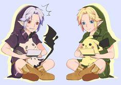 DarkLink & Link @yui___alice | #PokemonSunMoon #Pikachu