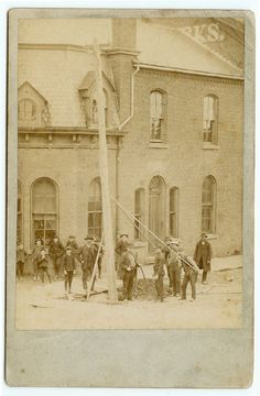 First electric pole goes up in Dunkirk, NY, 1875