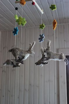 Hey, I found this really awesome Etsy listing at https://www.etsy.com/listing/178830801/felted-baby-mobile-hares-dance