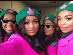 Image may contain: one or more people, hat and closeup Aka Sorority, Alpha Kappa Alpha Sorority, Sorority Sisters, Sorority Life, Delta Sigma Theta Apparel, Sigma Gamma Rho, Pretty In Pink, Pretty Girls, Sister Poems