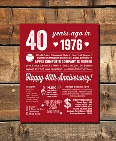 40th Anniversary Party By Fairplayprintables More