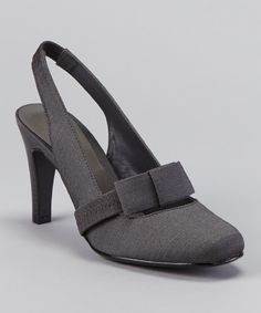 Take a look at this ann marino Steel Laughter Slingback Pump on zulily today!